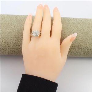 0.50ctw diamond engagement ring & band.